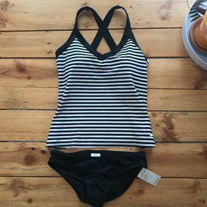 NWT Nike Striped Tankini Two-Piece Swimsuit